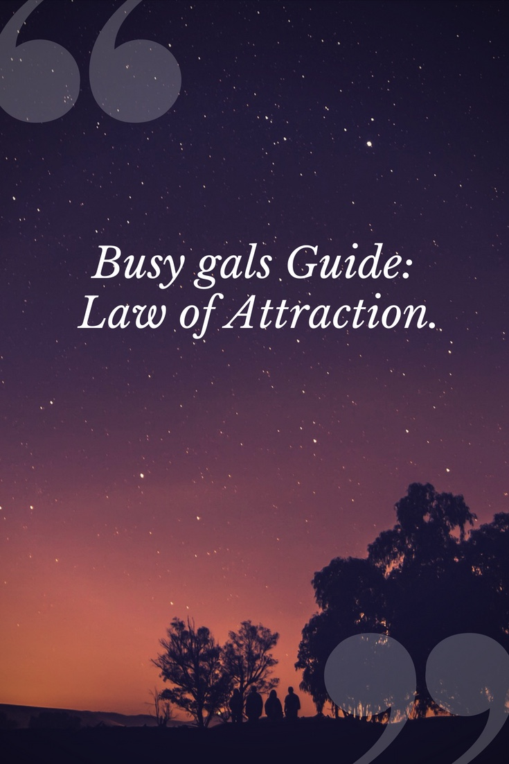 Busy gals Guide_ Law of Attraction.